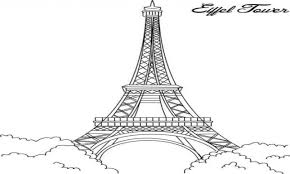 Small Picture Inspiring Idea Eiffel Tower Coloring Pages Eiffel Cecilymae