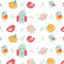 Bird Pattern Impressive Cute Bird Pattern Vector Free Download
