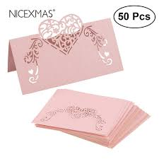 Nicexmas Laser Cut Heart Shape Place Cards Wedding Name Cards For Wedding Party Table Decoration Wedding Decor Supply Party Tea Party Decorations From