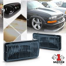 Chevy Blazer Fog Lights Details About Smoke Tinted Fog Light Bumper Lamps W Switch Harness For 98 04 Chevy S10 Blazer