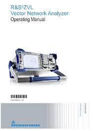 R&S®ZVL Vector Network analyzer Operating Manual