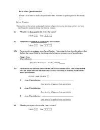 Template For Questionnaire Free Questionnaire Template Printable Survey Maker