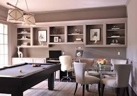 gray home office. Gray Office With Pool Table Home 0