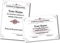 Certification Template Certificate Of Appreciation Templates
