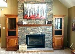 painting fake stone fireplace panels for faux removing ven fake stone fireplace