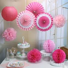 Party Decorations Tissue Paper Balls RiscaWin Set for Decoration Paper FanTissue Paper Pom Poms Paper 2