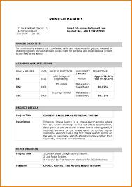 Format Of Resume For Fresher Teacher Resume For Study