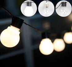 whole outdoor 20 led globe connectable festoon party ball string lighting led lights fairy wedding garden pendant garland industrial string