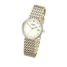 rotary men s gold plated bracelet watch h samuel