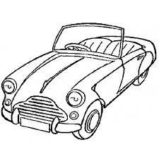 Disegno Di Macchina Cabrio Da Colorare Per Bambini