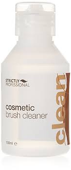 strictly professional cosmetic brush cleaner removes make up from brushes