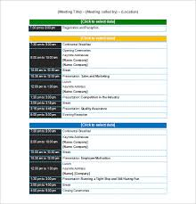 sample meeting schedule conference schedule template 7 free sample example format