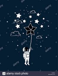 How To Draw A Star Design Astronaut Draw With Star Design Stock Vector Art