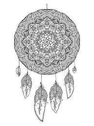 Volwassen Kleurplaat Lotus 16 Coloring Pages Of Dreamcatchers On