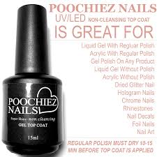 POOCHIEZ NAILS SUPER SHINE UV/LED TOP COAT