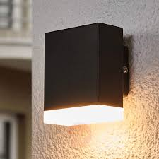 modern led outdoor wall lamp aya in black 9988100 02