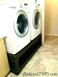 washer dryer stands diy pedestal dimensions and platform dimension