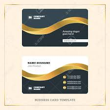 Visiting Card Design Black And Gold Creative Golden Business Visiting Card Vector Design Template