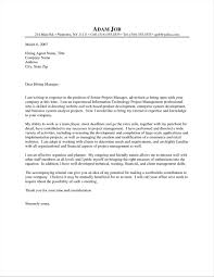 Sample Project Management Cover Letter Themovescalifornia Com