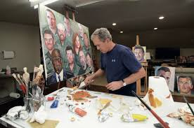 george w bush s paintings cannot redeem him president bush painting photo by grant miller all images courtesy president george w bush