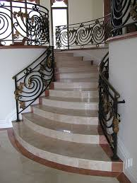 marble lipped indoor steps custom travertine tile floors
