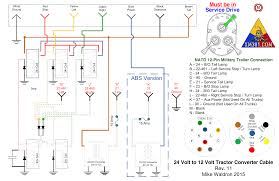 24 volt military 12 pin trailer plug wiring diagram 24 diy xm381 v3