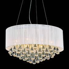 modern round chandelier round modern chandelier lighting with white drum shades
