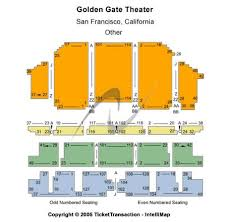 Golden Gate Theatre Tickets And Golden Gate Theatre Seating