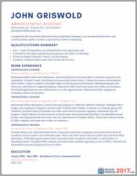 Sample Resume For Administrative Assistant In Education Resume