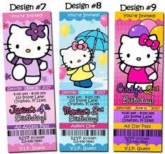 Hello Kitty Party Invitation Hello Kitty Birthday Party Invitation Ticket Custom Charmmy