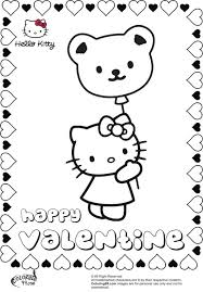 Hello kitty black and white clip art 62. Hello Kitty Valentines Day Coloring Pages