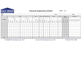 inspection sheet sema inspection archives rack inspection