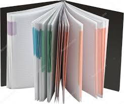 Opened Notebook With Blank Multicolored Pages Stock Photo