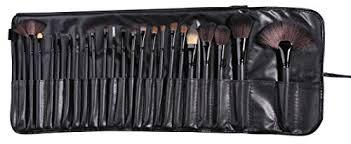 amazon beau belle 24 piece makeup brush set with case black beauty