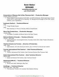 Production Manager Resumes New Event Production Manager Resume Resume Production