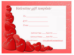 Heart Wish Gift Certificate Template Gift Voucher Templates
