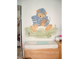 football teddy bear wall mural on vintage teddy bear wall art with teddy bear wall murals examples of teddy bear muralswall murals by