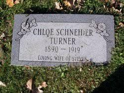 Chloe Iva Schneider Turner (1890-1919) - Find A Grave Memorial
