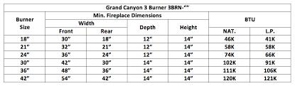 Gas Fireplace Sizing Chart Grand Canyon Arizona Weathered Oak Vented Gas Log Sets With