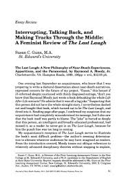 essay review interrupting talking back and making tracks  essay review interrupting talking back and making tracks through the middle a feminist review of the last laugh digital library
