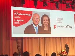 """Arie Joehro on Twitter: """"Leif Agnéus, nouveaux président de #swissstaffing  et Myra Fischer-Rosinger ouvrent la manifestation du jubilé  #swissstaffing50… https://t.co/w4aIZXSpoF"""""""