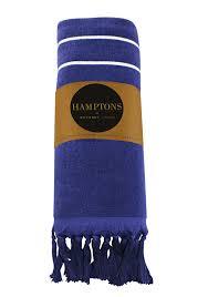 Odyssey Living Hampton 100 Cotton Beach Towel 80x160cm 400 Gsm Navy