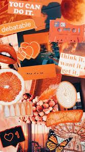 orange wallpaper collage