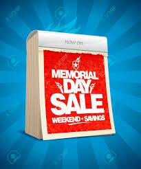 Memorial Day Sale Vector Design In Form Of Tear Off Calendar