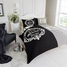 duvet cover with pillow case quilt cover bedding set real boss cream black