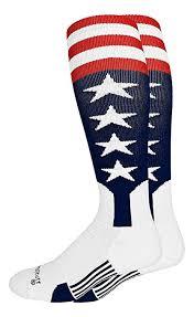 Buy Madsportsstuff Usa Flag Baseball Stirrup Socks Navy Red