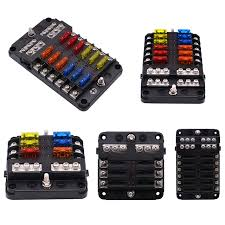 wupp 12v 32v plastic cover fuse box holder m5 stud led wupp 12v 32v plastic cover fuse box holder m5 stud led indicator light 6 ways