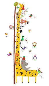 Djeco Removable Wall Stickers Height Chart Friends Of The