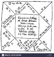 Star Chart Rectification Horoscopes Charles I King Of England The Chart Cast By