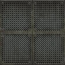 Rugged old anti slip metal grid tile floor seamless texture Wall